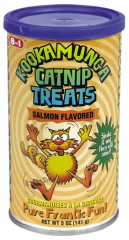 Kookamunga: Catnip treats,can,salmon 5 OZ