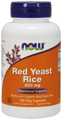 NOW: Red Yeast Rice Extract 600mg Organic 120 VCAPS