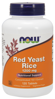 NOW: RED YEAST RICE EXTRACT 1200MG 120 TABS