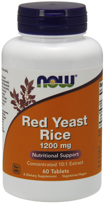 NOW: Red Yeast Rice 1200mg 60 TABS