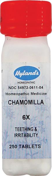 HYLANDS: Chamomilla 6X 250 tabs