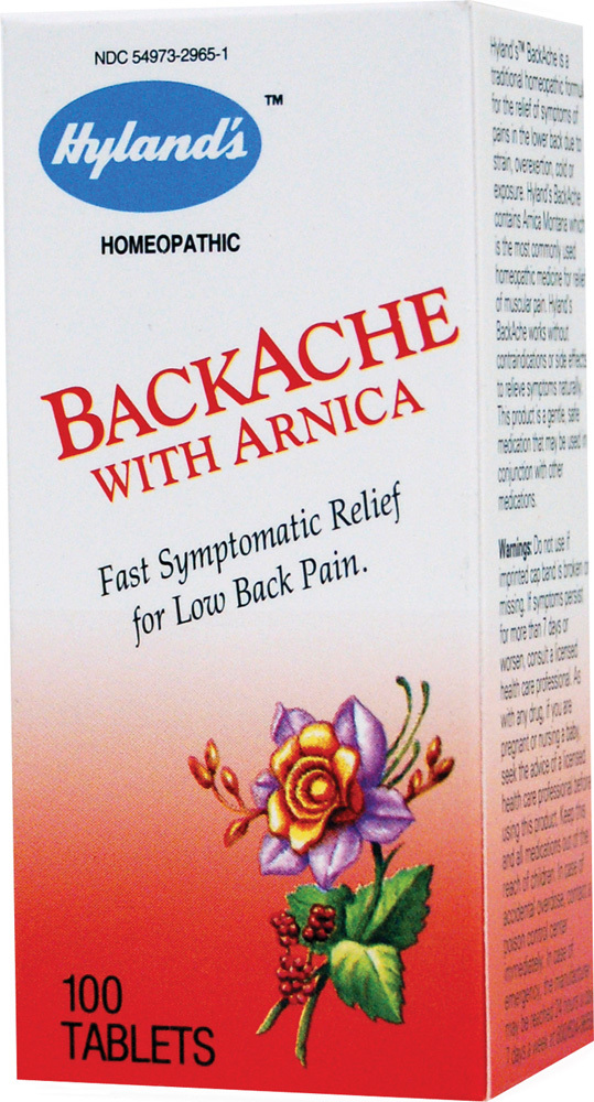 HYLANDS: Backache With Arnica 100 tabs