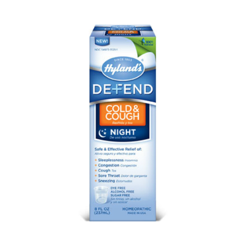 HYLANDS: Defend Cold & Cough Nighttime 4 oz