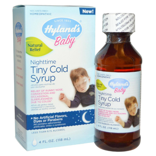 Baby Nighttime Tiny Cold Syrup 4 Oz 7 43ea From Hylands
