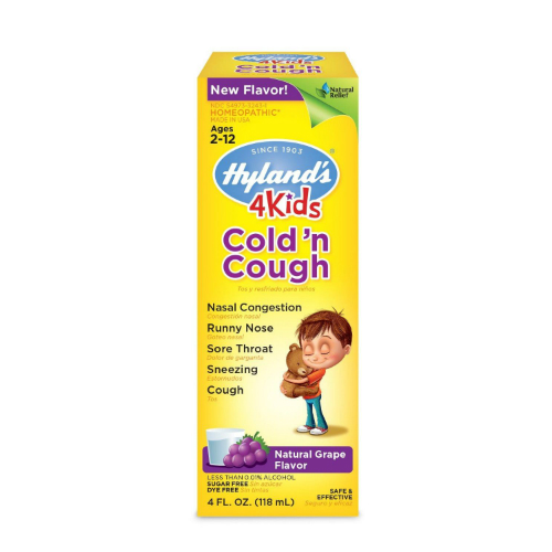 HYLANDS: 4 Kids Cold'n Cough Grape 4 oz