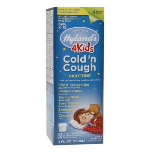 HYLANDS: 4 Kids Cold'n Cough Nighttime Grape 4 oz