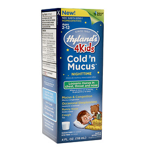HYLANDS: 4 Kids Cold'n Mucus Nighttime 4 oz