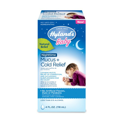 HYLANDS: Baby Nighttime Mucus Cold Relief 4 oz