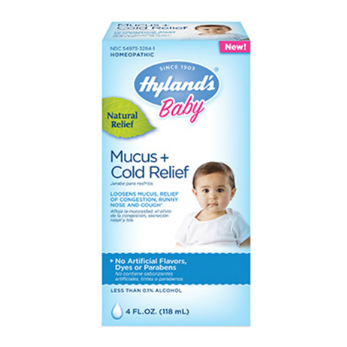 HYLANDS: Baby Mucus Plus Cold Relief 4 oz