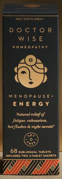 DOCTOR WISE: Doctor Wise Homeopathy Menopause Plus Energy Tablets 68 tablet