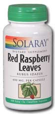 Solaray: Red raspberry leaves 100ct 400mg