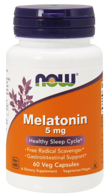 NOW: Melatonin 5 mg 60 Vcaps