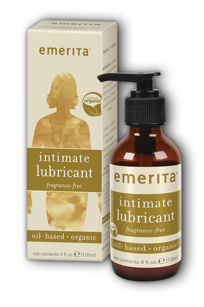 Emerita: Organic Oil-Based Lubricant (Fragrance Free) 4 oz L-Oil