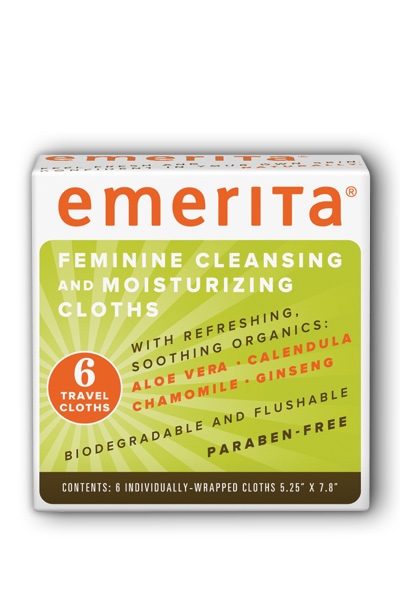 Feminine Cleansing and Moisturizing Cloths Travel Size
