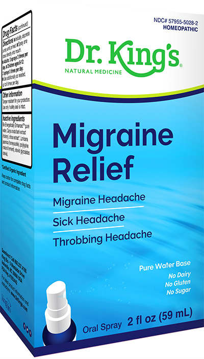 DR. KINGS MEDICINE BY KING BIO: Migraine Relief 2 ounce