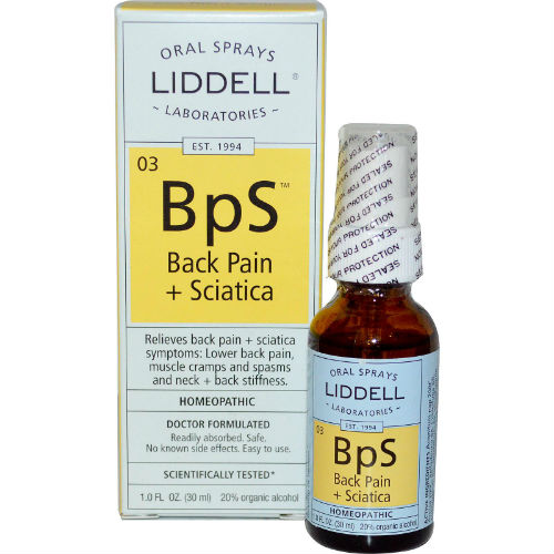 LIDDELL HOMEOPATHIC: Back Pain Sciatica Spray 1 oz