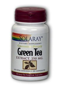 Solaray: Green Tea Extract 30 Cap 250mg