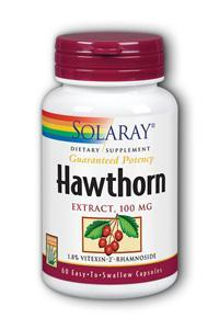 Solaray: Hawthorn Extract 60 ct 100mg