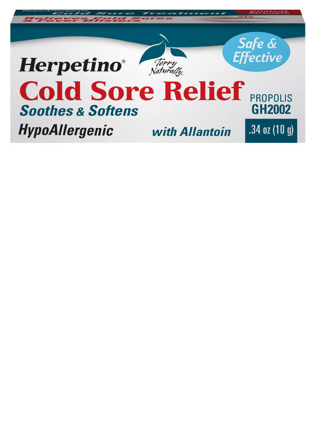 Herpetino Cold Sore relief, 10g (0.34oz)