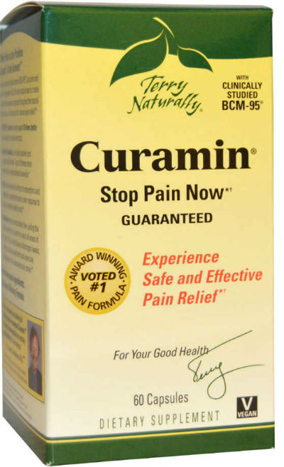 Curcumin, boswellia, nattokinase formula Curamin