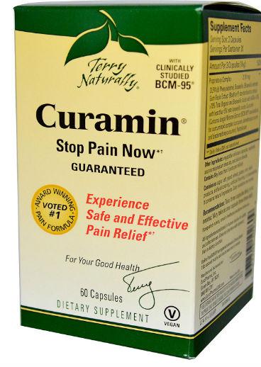 EuroPharma: Curamin (End Inflammation Pain) 60 capsules