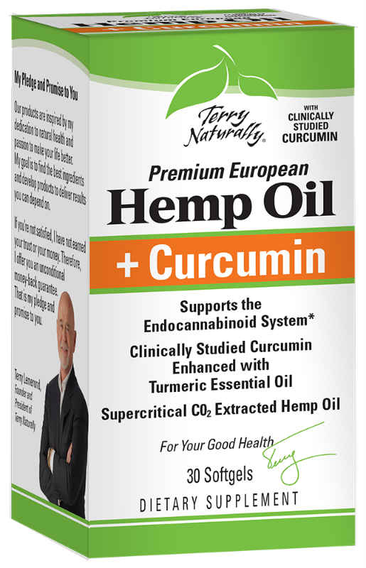 Hemp Oil + Curcumin, 30 Softgels