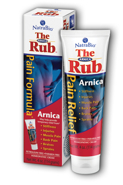 NATRA-BIO/BOTANICAL LABS: Arnica Cream 'The Rub' 4 oz