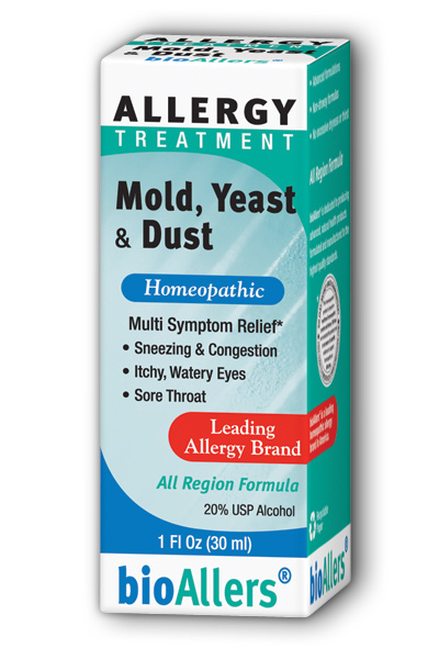 NATRA-BIO/BOTANICAL LABS: bioAllers Mold  Yeast  Dust Allergy Relief 1 fl oz