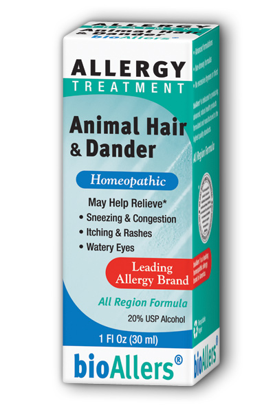 NATRA-BIO/BOTANICAL LABS: bioAllers Animal Hair  Dander Allergy Relief 1 fl oz