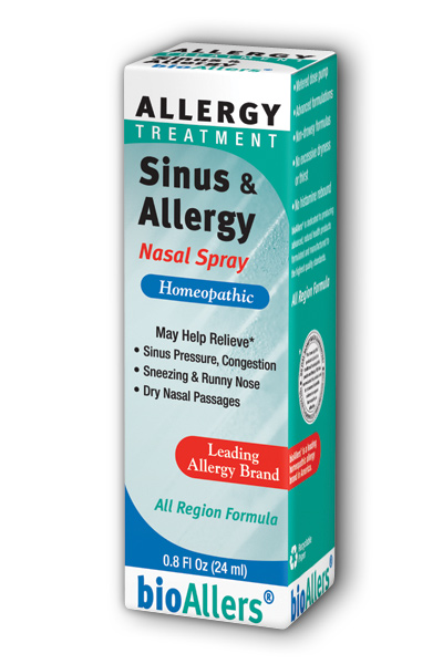 NATRA-BIO/BOTANICAL LABS: bioAllers Allergy  Sinus Nasal Spray .8 oz
