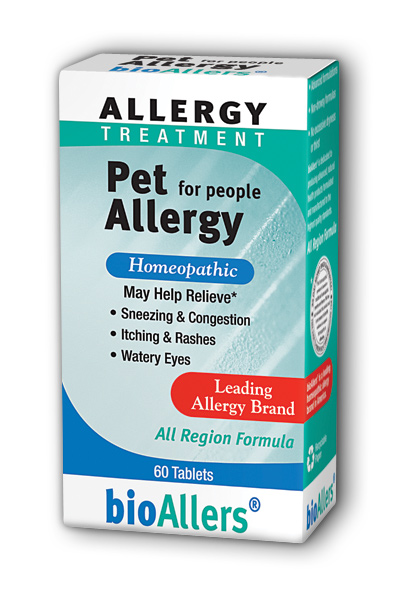 NATRA-BIO/BOTANICAL LABS: bioAllers Pet Allergy For People 60 tabs