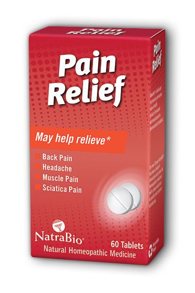 NATRA-BIO/BOTANICAL LABS: Pain Relief 60 tabs