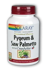 Solaray: Pygeum & Saw Palmetto European Stnd With CranActin 90ct