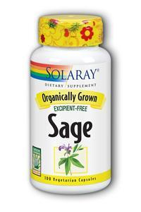 Solaray: Organic Sage Root 570mg 100ct vcaps