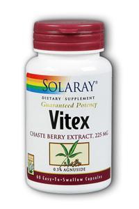 Solaray: Vitex chaste berry extract 60ct 225mg