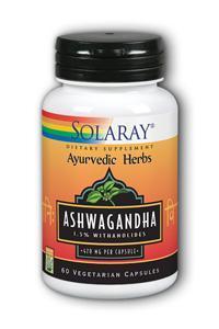 Solaray: Ashwagandha root extract 60ct 470mg