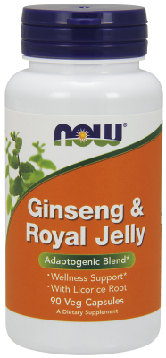 NOW: GINS & ROYAL JELLY 300  300mg 90 CAPS 1