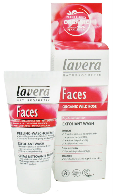 LAVERA: Faces-Exfoliant Wash Wild Rose 1 oz