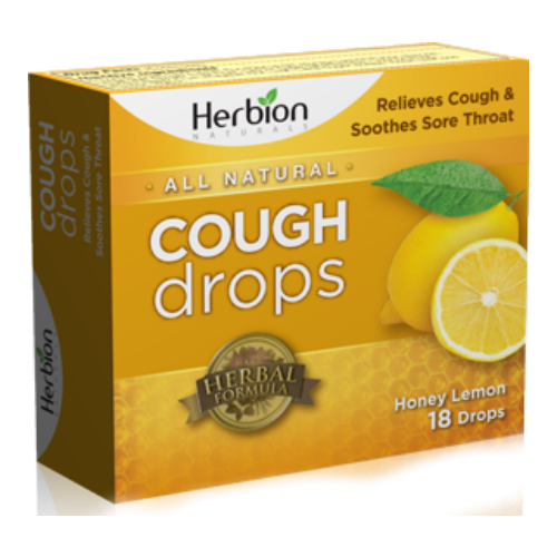 HERBION: Sugar Free Cough Drops Honey Lemon 18 lozenge