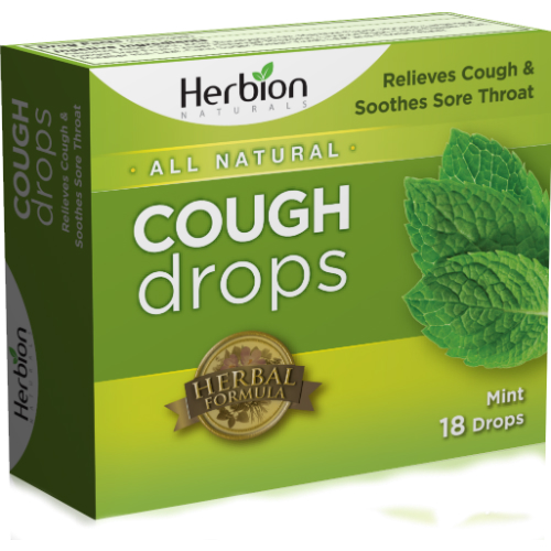 HERBION: Sugar Free Cough Drops Mint 18 lozenge