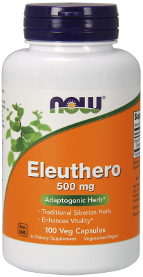 NOW: ELEUTHERO 500mg  100 CAPS 1