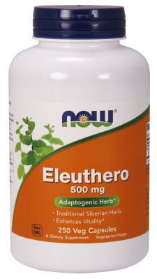 NOW: ELEUTHERO 500mg  250 CAPS 1
