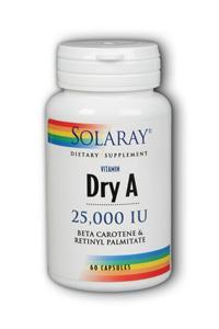 Solaray: Emulsified Dry Vitamin A 60ct 25000IU
