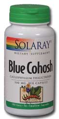 Blue Cohosh Root, 100ct 500mg