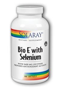 Solaray: Bio E with Selenium 180ct 400IU