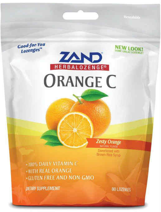 Zand: HerbaLozenge Orange C 80 Drops Lozenge Orange (Pouch) 80ct