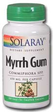 Solaray: Myrrh Gum 100ct 650mg