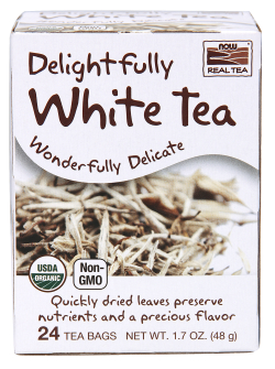 Delightfully White Tea Organic 24 tea bags from NOW