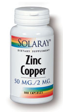 Solaray: Zinc Copper 100 ct