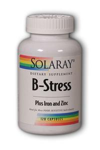 Solaray: B-Stress plus Iron and Zinc 120ct